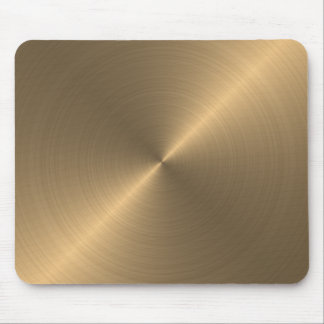 Alfombrilla De Ratón Cojín de ratón metálico de la mirada del oro