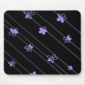 Alfombrilla De Ratón Cojín de ratón púrpura del estampado de plores
