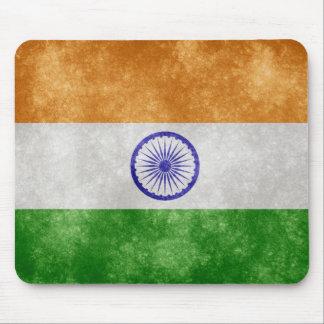 Alfombrilla De Ratón Cojín de ratón retro de la bandera de la India del