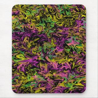 Alfombrilla De Ratón Colores salvajes en el fondo negro Mousepad