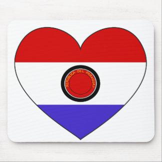 Alfombrilla De Ratón Corazón de la bandera de Paraguay