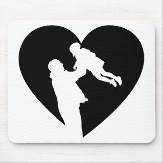 Alfombrilla De Ratón Corazón del padre y de la hija