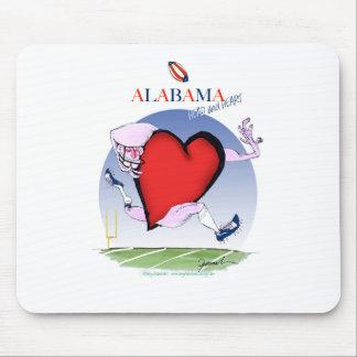 Alfombrilla De Ratón corazón principal de Alabama, fernandes tony