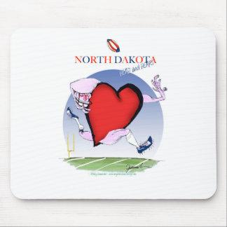 Alfombrilla De Ratón corazón principal de Dakota del Norte, fernandes