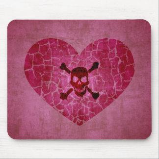 Alfombrilla De Ratón Corazón quebrado del Grunge gótico