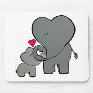Alfombrilla De Ratón Corazones del elefante - un amor inolvidable
