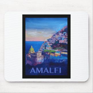 Alfombrilla De Ratón Costa retra Italia de Amalfi del poster