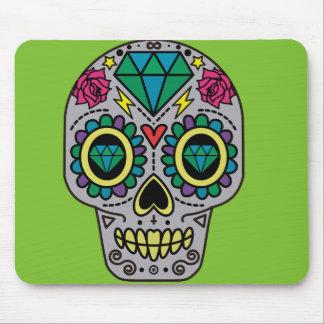 Alfombrilla De Ratón Cráneo colorido enrrollado abstracto del azúcar