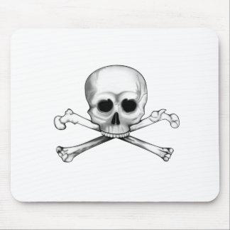 Alfombrilla De Ratón Cráneo y bandera pirata