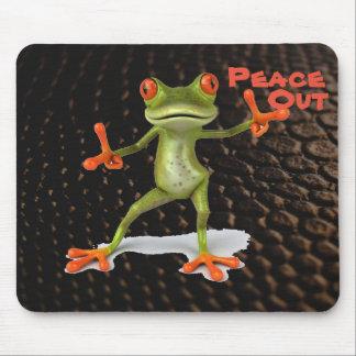 Alfombrilla De Ratón Cuál es su rana que dice paz hacia fuera