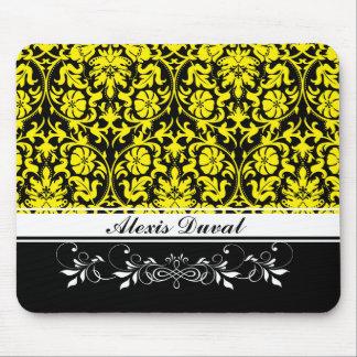 Alfombrilla De Ratón Damasco amarillo
