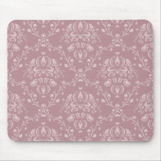 Alfombrilla De Ratón Damasco púrpura y blanco
