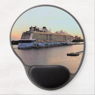 Alfombrilla De Ratón De Gel Alba del puerto de Nassau con el barco de cruceros