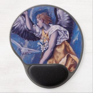 Alfombrilla De Ratón De Gel ángel con una paloma blanca