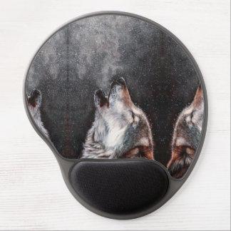 Alfombrilla De Ratón De Gel Arte del lobo - lobo del grito - pintura del lobo