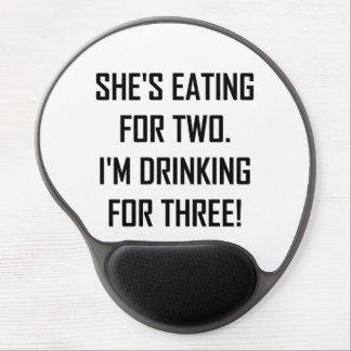 Alfombrilla De Ratón De Gel Consumición para dos que beben para tres
