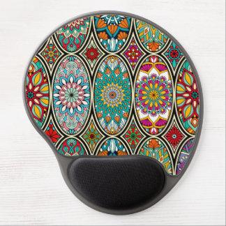 Alfombrilla De Ratón De Gel Diverso estampado de flores oval colorido de las