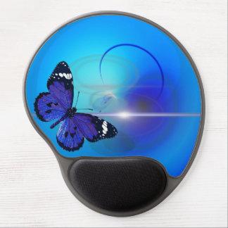 Alfombrilla De Ratón De Gel Gel azul Mousepad de la mariposa