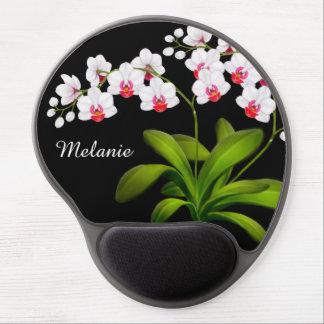 Alfombrilla De Ratón De Gel Gel floral blanco adaptable Mousepad de la