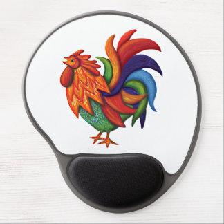 Alfombrilla De Ratón De Gel Gel Mousepad de De Colores Rooster Gallo