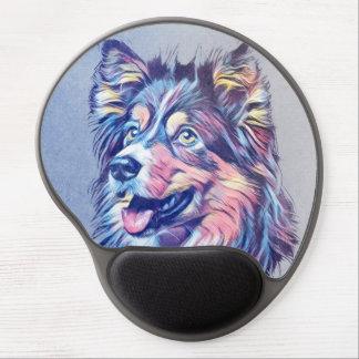 Alfombrilla De Ratón De Gel Gel Mousepad de la pintura del perro pastor de