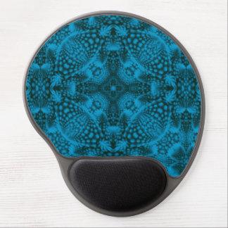 Alfombrilla De Ratón De Gel Gel negro y azul Mousepad   del caleidoscopio del