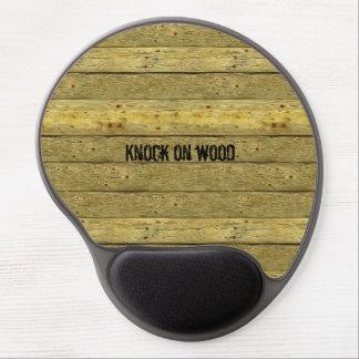 Alfombrilla De Ratón De Gel Golpe en el gel de madera Mousepad de la novedad