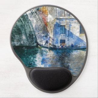 Alfombrilla De Ratón De Gel Góndola en el Gran Canal de Venecia Italia