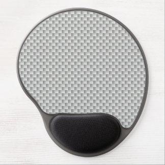 Alfombrilla De Ratón De Gel Grafito blanco y gris de la fibra de carbono