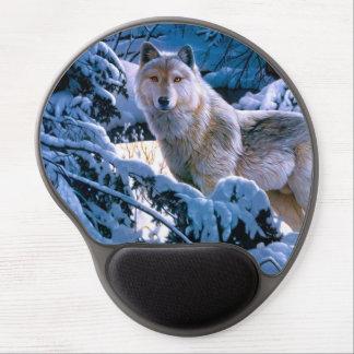 Alfombrilla De Ratón De Gel Lobo ártico - lobo blanco - arte del lobo