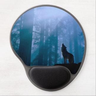 Alfombrilla De Ratón De Gel Lobo del grito - lobo salvaje - lobo del bosque