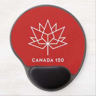 Alfombrilla De Ratón De Gel Logotipo del funcionario de Canadá 150 - rojo y