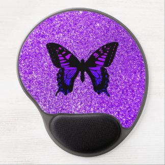 Alfombrilla De Ratón De Gel Mariposa púrpura en brillo