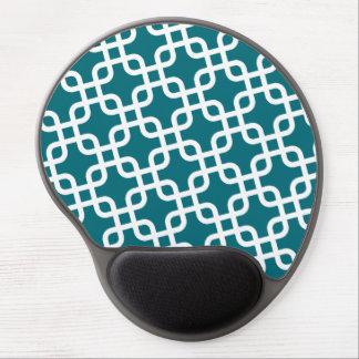Alfombrilla De Ratón De Gel Modelo geométrico azul y blanco