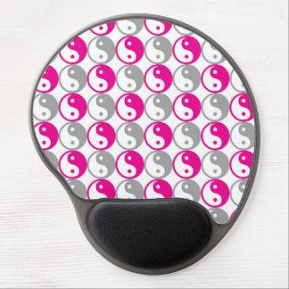 Alfombrilla De Ratón De Gel Modelo rosado y gris de yang del yin