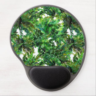 Alfombrilla De Ratón De Gel Modelo verde de la caída del bosque del helecho de