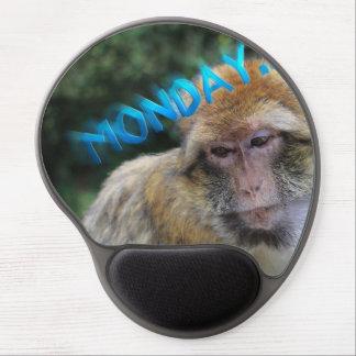Alfombrilla De Ratón De Gel Mono triste sobre lunes
