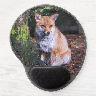 Alfombrilla De Ratón De Gel Mousepad del zorro rojo se sentó por un mousemat
