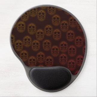Alfombrilla De Ratón De Gel Multi-Cráneos Ver.2 rojo oscuro