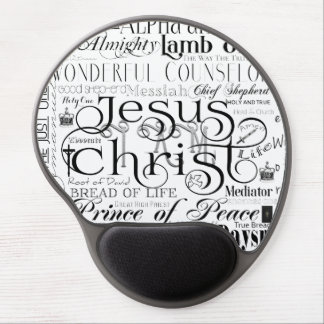 Alfombrilla De Ratón De Gel Nombres del gel Mousepad de la tipografía de Jesús