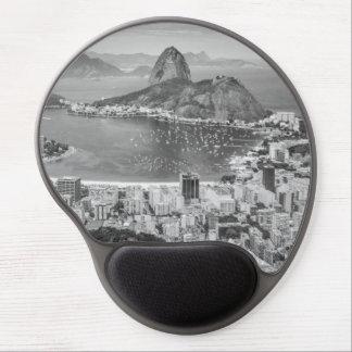Alfombrilla De Ratón De Gel Opinión aérea de B&W Río de Janeiro