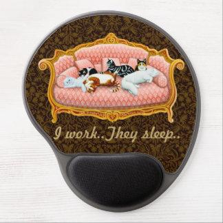 Alfombrilla De Ratón De Gel Ordenador cuidado en exceso Mousepad de Housecats