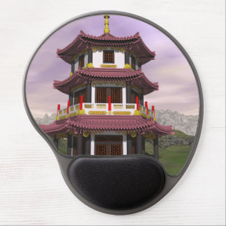 Alfombrilla De Ratón De Gel Pagoda en naturaleza - 3D rinden