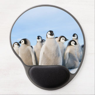 Alfombrilla De Ratón De Gel Polluelos del pingüino de emperador - cojín de