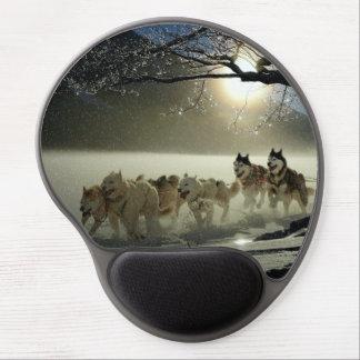 Alfombrilla De Ratón De Gel Raza fornida de Alaska del trineo del perro