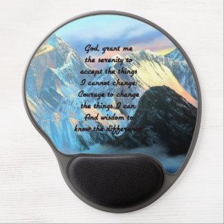Alfombrilla De Ratón De Gel Rezo de la serenidad con la visión panorámica el