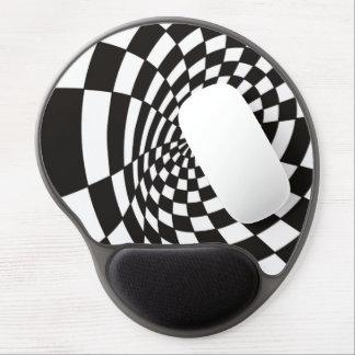 Alfombrilla De Ratón De Gel Tablero de damas deformado en blanco y negro