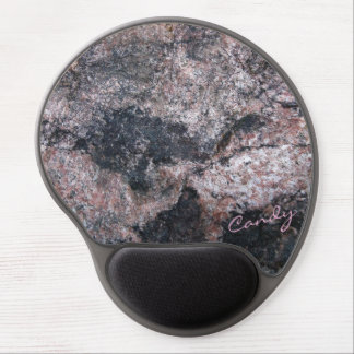 Alfombrilla De Ratón De Gel Textura de la roca rosácea con el caramelo