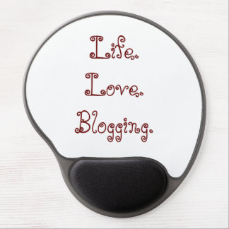 Alfombrilla De Ratón De Gel Vida. Amor. El Blogging. Gel Mousepad