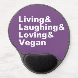 Alfombrilla De Ratón De Gel Vida y risa y amor y vegano (blancos)